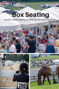 Box Seating choices available over #labordayweekend